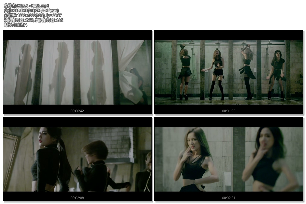 日韩高清官方-[1080P] miss A – Hush (Melon – 231M)(2)